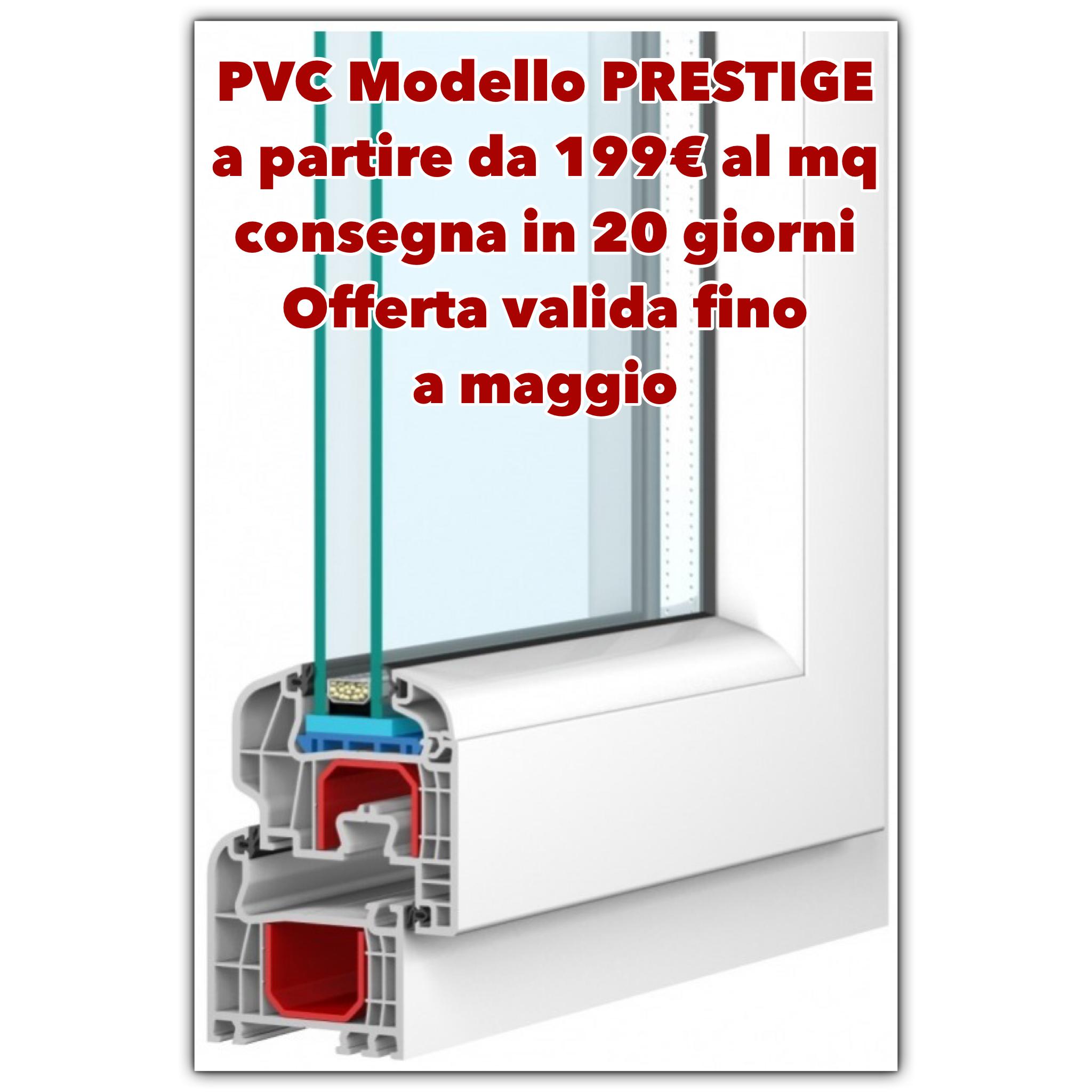 Offerte produzione e vendita di infissi e finestre for Infissi in pvc prezzi al mq